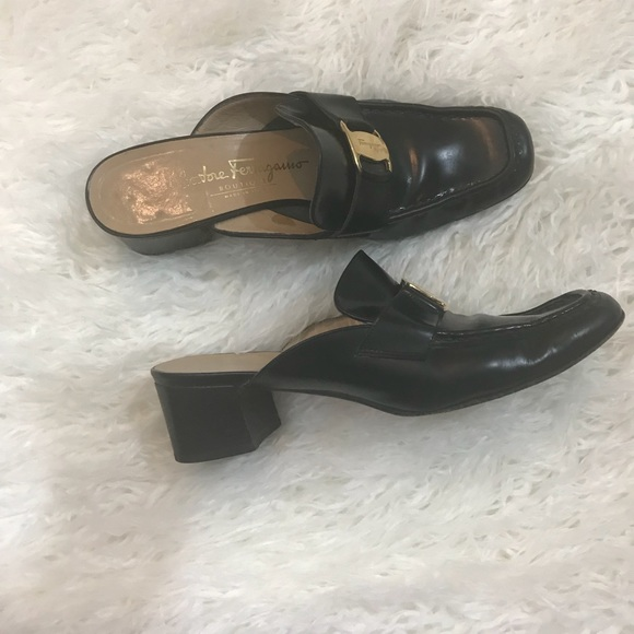 Discount Browse Salvatore Ferragamo Leather Mules Cheap Outlet Store The Cheapest Cheap Online PuydIcRvb